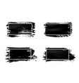 ink brush strokes set acrylic paint with grunge vector image