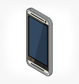 isometric phone icon vector image vector image