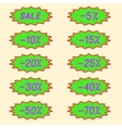 Labels discounts vector image