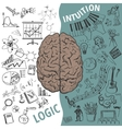 Left and right brain functionsHuman concept vector image