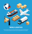 logistics isometric set vector image vector image