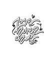 love never ends hand drawn lettering vector image vector image