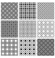Monochrome backgrounds collection vector image