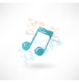 Music wings grunge icon vector image