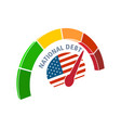 National debt concept