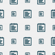 Notepad icon sign Seamless pattern with geometric vector image