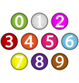 Number set vector image