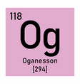 oganesson chemical symbol vector image vector image