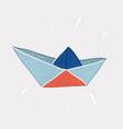 paper boat on white vector image vector image