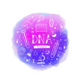poster with equipment for dna vector image