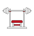 press bench vector image