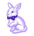 rabbit with bow tie cartoon vector image