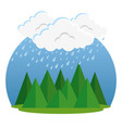 rainy weather forecast vector image