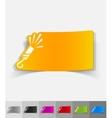 realistic design element slapstick vector image vector image