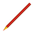 red pencil isolated on white vector image