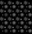 seamless navy black background with snowflakes vector image