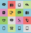 set of 16 editable gadget icons includes symbols vector image vector image