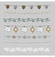Set of Christmas borders strings garlands vector image vector image