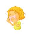 Sneezing vector image
