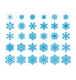 snowflakes isolated on white background clipart vector image vector image