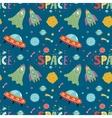 space aliens cartoon seamless pattern vector image vector image