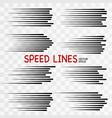 speed line vector image vector image