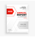 stylish red and whte business annual report vector image