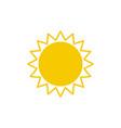 sun icon design template vector image