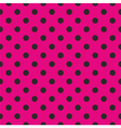 Tile black polka dots on pink background vector image vector image