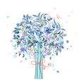 tree flowers vector image vector image