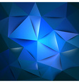 triangles blue vector image vector image