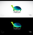 turtle design on white background and black vector image vector image