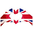 two palms make heart shape british flag vector image vector image