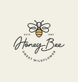 vintage honey bee logo template