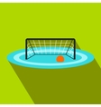 Water polo gates flat icon vector image vector image