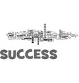 what is success text word cloud concept vector image vector image