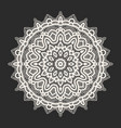 white lace pattern over black background vector image vector image