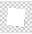white sticky note isolated on transparent vector image