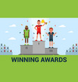winning awards of a flat vector image vector image