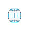 wooden barrel linear icon concept wooden barrel vector image vector image