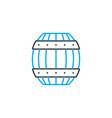 Wooden barrel linear icon concept wooden barrel
