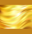 yellow waves background gold cloth in wind gold vector image