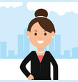 young businesswoman avatar character vector image vector image