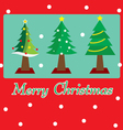 Christmas tree postcard vector image