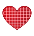 heart love red romantic vector image