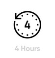 4 hours icon editable outline vector image
