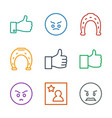 9 good icons vector image vector image