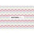 abstract blue pink red color chevron pattern vector image vector image