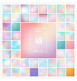 abstract colorful gradient background set pattern vector image vector image