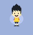 adorable boy cartoon character vector image vector image